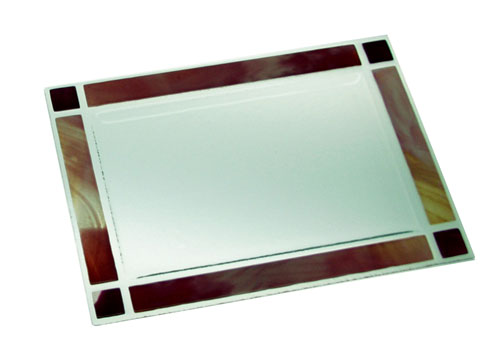 Bandeja cenefa color 43x28 cm. (Medidas aproximadas)