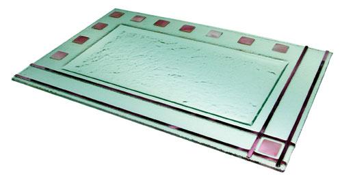 Bandeja doble marco color 43x28 cm. (Medidas aproximadas)