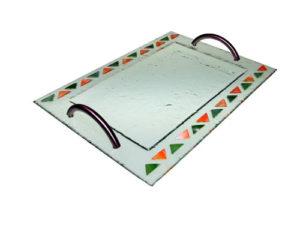 Bandeja triángulos color 35x25 cm. (Medidas aproximadas)