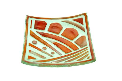 Plato ABANICOS 15x15 cm. (Medidas aproximadas)