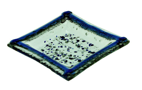 Cenicero color azul