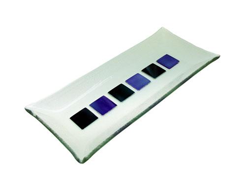Bandeja cuadrados color  27x12 cm. (Medidas aproximadas)