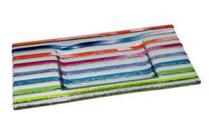 Bandeja tiras multicolor 1 18x10 cm. (Medidas aproximadas)
