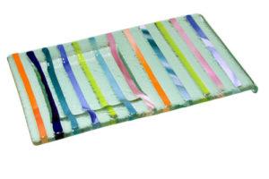 Bandeja tiras multicolor 2 18x10 cm. (Medidas aproximadas)