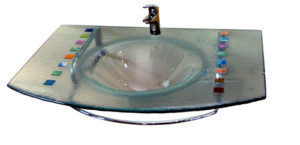 Lavabo fusing texturado mosaico colores