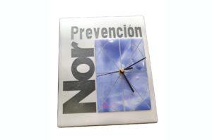 Reloj Promocional Norprevención. Fusing.